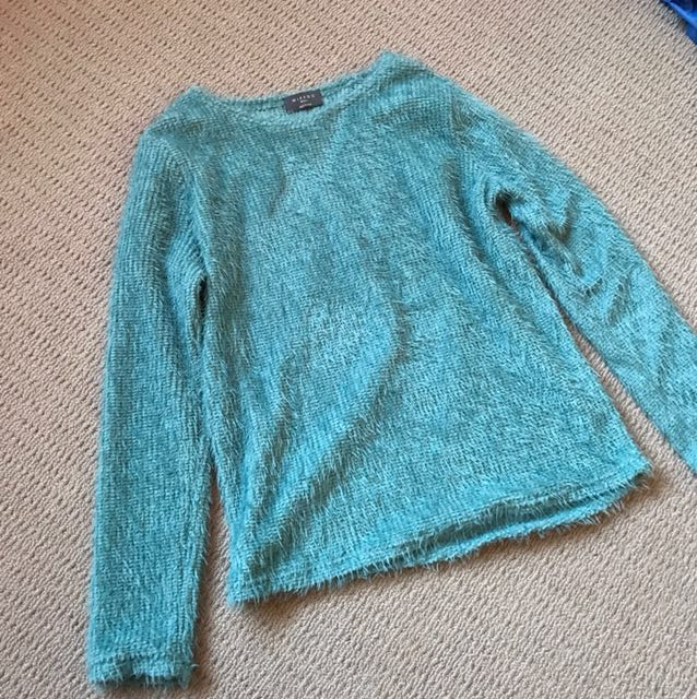 Blue fluffy jersey