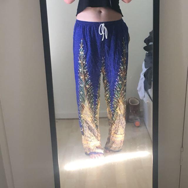 Blue Thai pants
