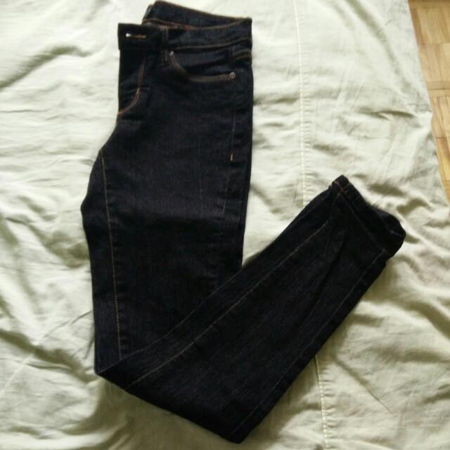 Brand new black denim jeans