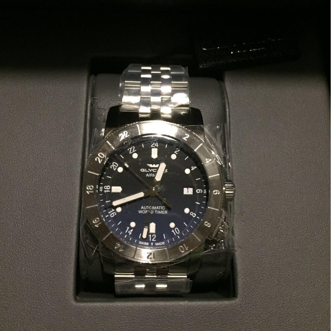 Brand New] Glycine Airman 42 GMT (Blue dial on bracelet