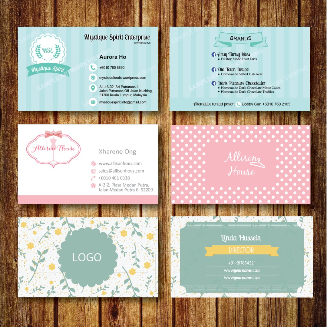 Business card printing design craft artwork on carousell reheart Choice Image