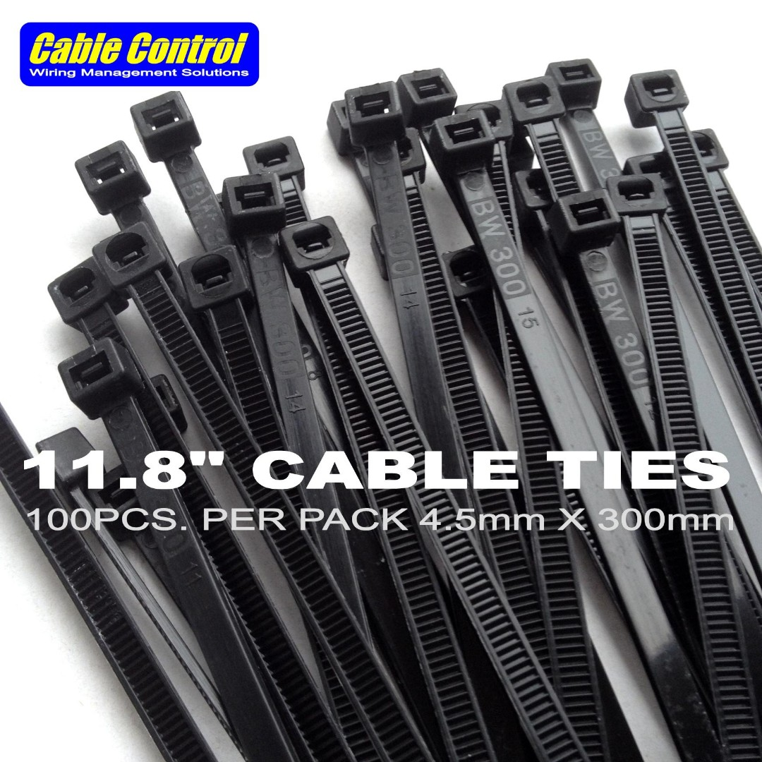 """dbe3bfecc4e0 Cable Control HIGH QUALITY 11.8"""" nylon wire ties , cable ties black ..."""