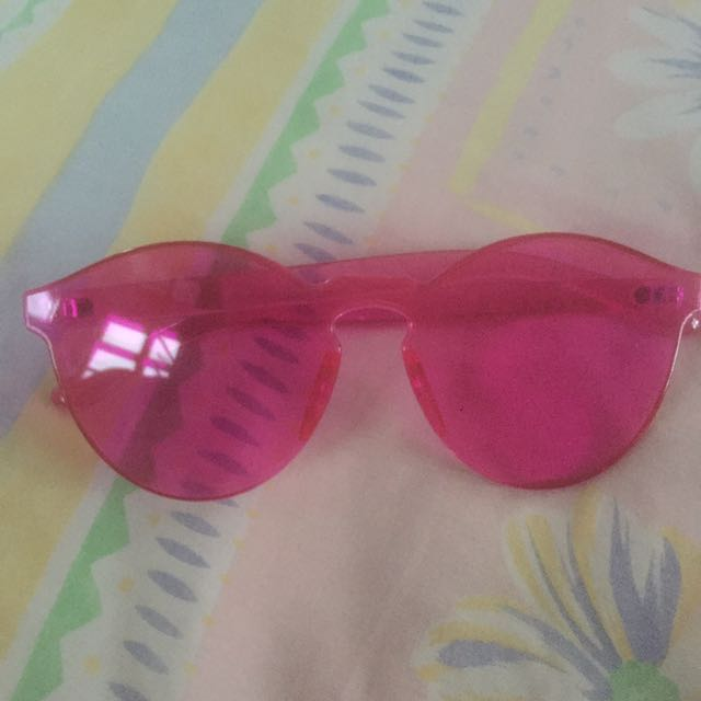 CANDY PINK SUNNY AVIATOR GLASSES