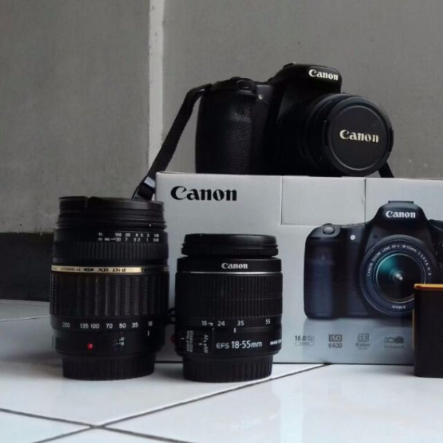 CANON 60D + 2 ORIGINAL LENSES + BOX + 1 TAMRON 18-200MM + FREE CHARGER + 2 BATTERY
