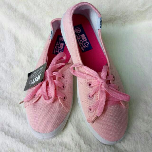 Canvas Pink Sneakers