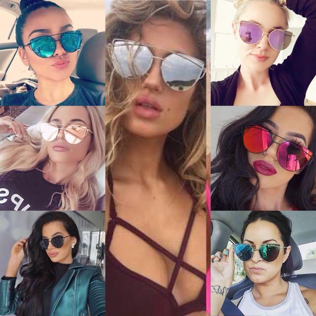 Cat eye sunglasses - 7 colour options