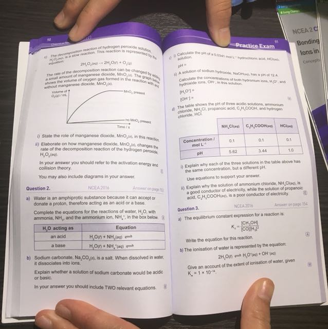 Chemistry revision guide and fold-out notes
