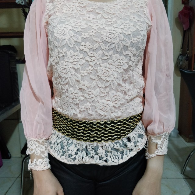 Chiffon Longsleeves with flaw