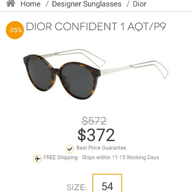 Christian dior confident one f