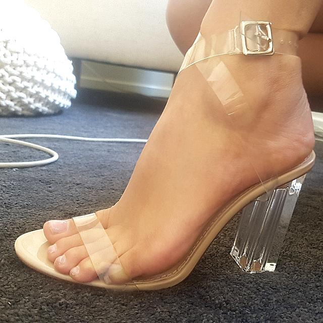 Clear Heels Yeezy Dupe - ON HOLD