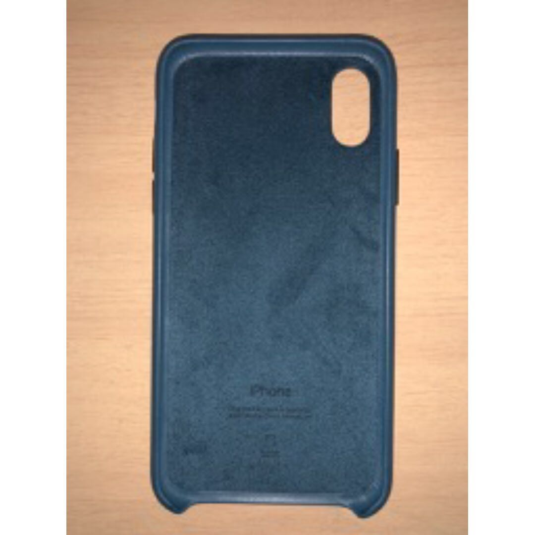 super popular 2e7f7 ab25f Cosmos blue Apple iPhone X leather case
