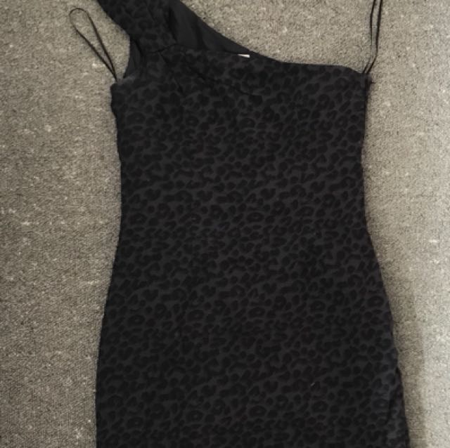 Cotton On - Black Leopard Print Dress