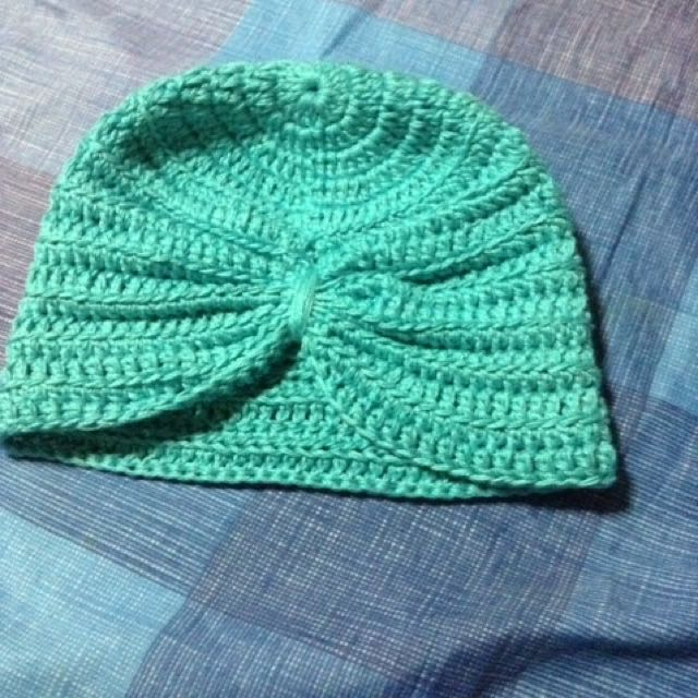 crochet hat turban (cotton)