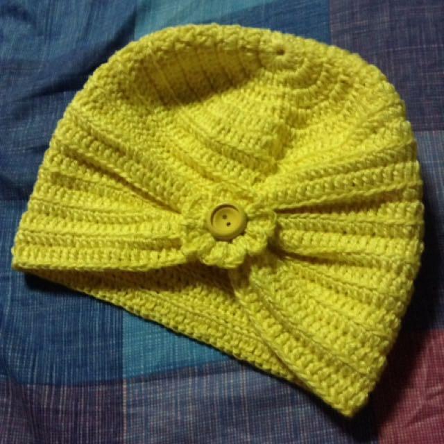 crochet hat turban(cotton)