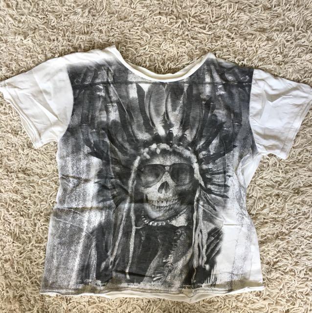 Cropped Skull T-shirt