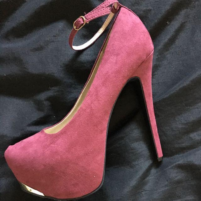 Deep red/purple heels