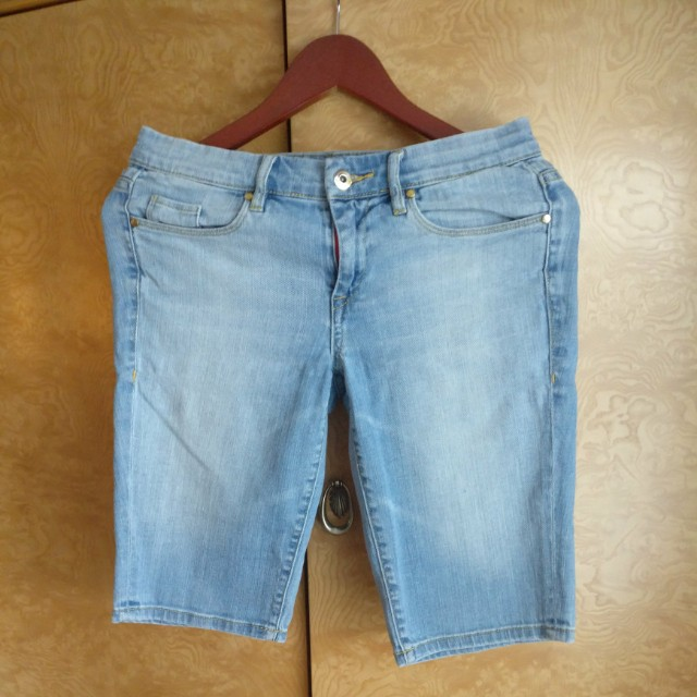 Designer Denim Bermuda Shorts