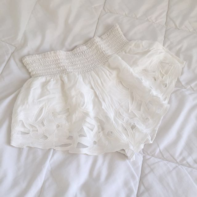 Dotti White Summer Shorts