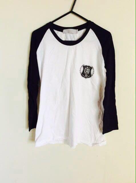 EXO Kpop Merch Shirt Top Clothes Black White
