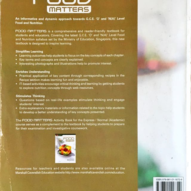 Food matters fn textbook books stationery textbooks on carousell forumfinder Images