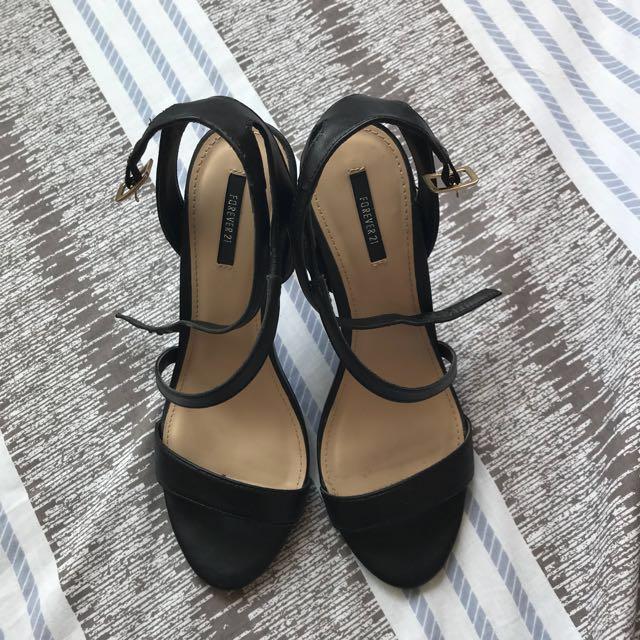 Forever 21 Black Heels (open for swap)