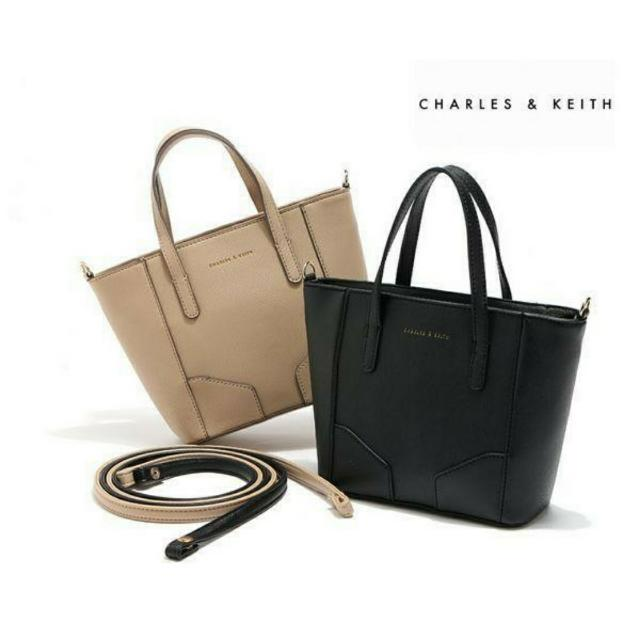 FREE SHIPPING Charles & Keith Leather Sling Bag + FREE GIFT 🎁