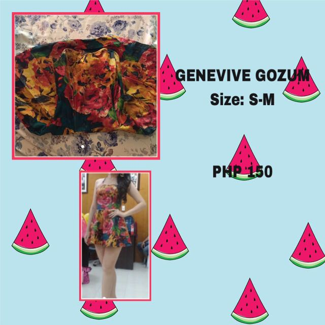 GENIVIVE GOZUM FLORAL dress