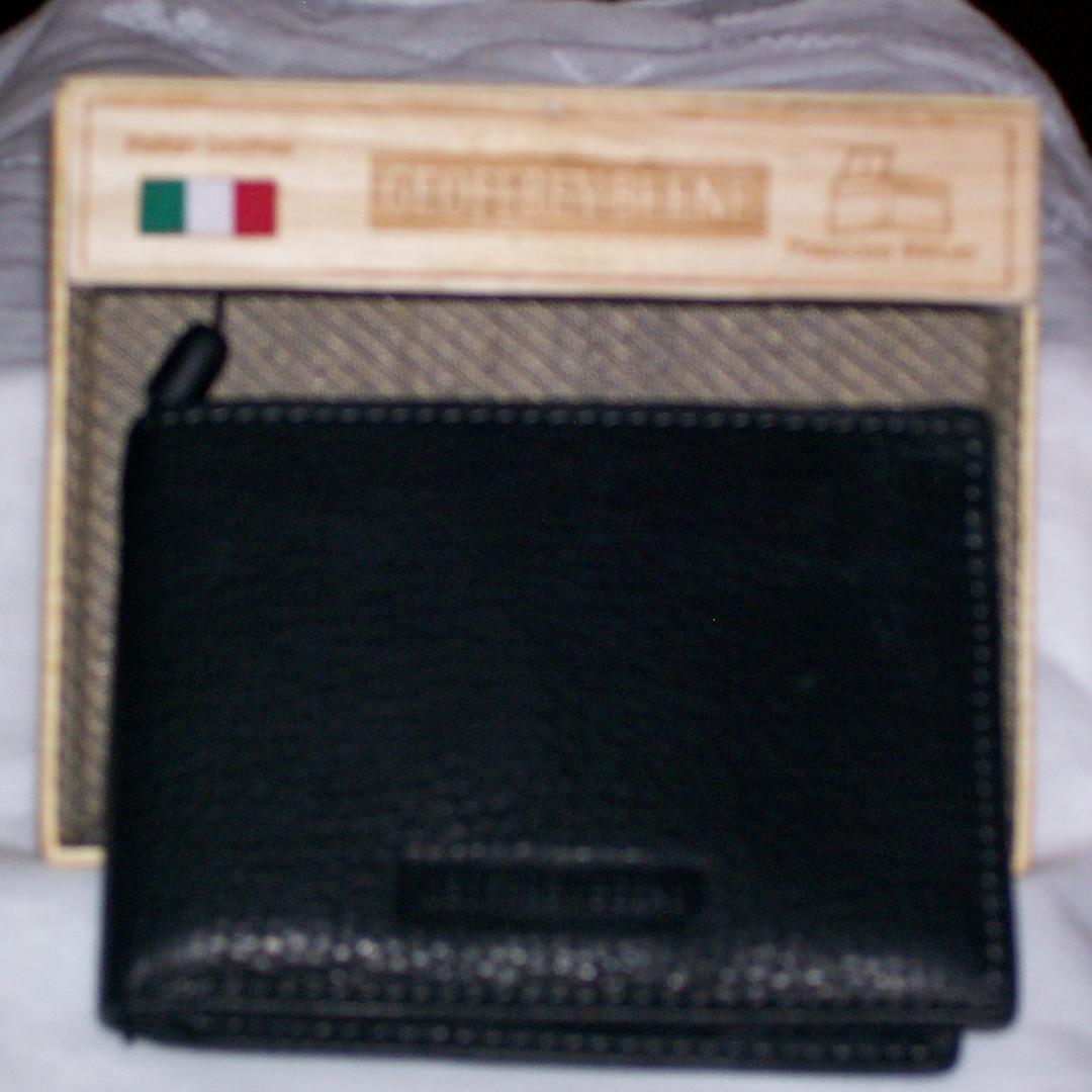 Geoffrey Beene Italian Leather Men's Passcase Billfold