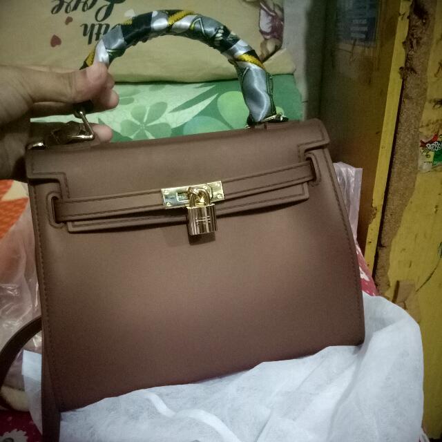 Handbag Kelly Choco Kualitas Premium