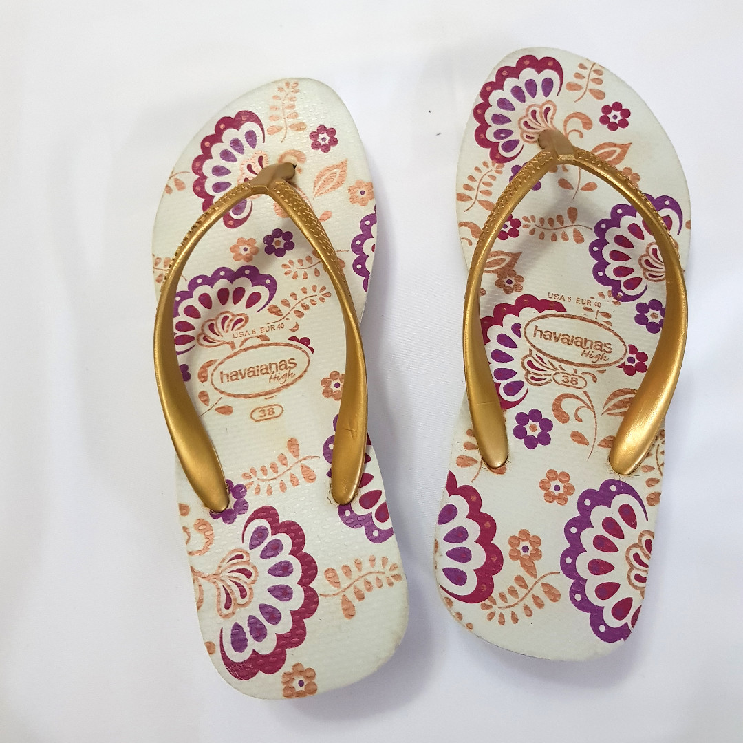 7On Carousell Wedge Havaianas High Floral Flip 38us Flopssize XZukPi