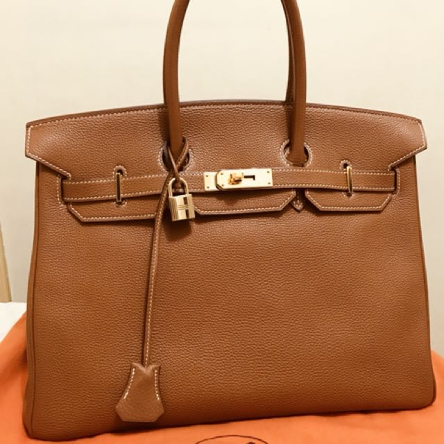 2148ad860f6 ... canada hermes birkin 35 gold togo ghw i luxury bags wallets on  carousell a249b 83d81