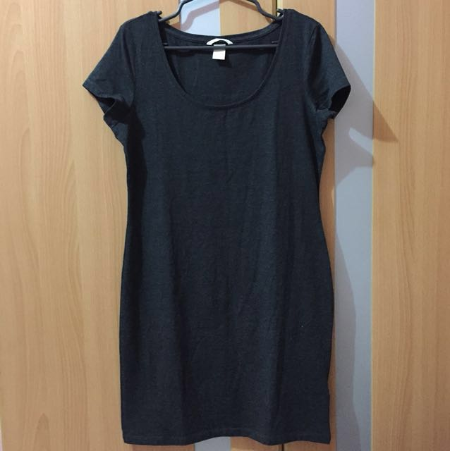 H&M Dark gray cotton dress