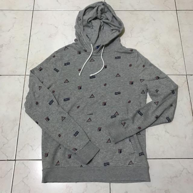 H&M Grey Hoodie w/ Prints