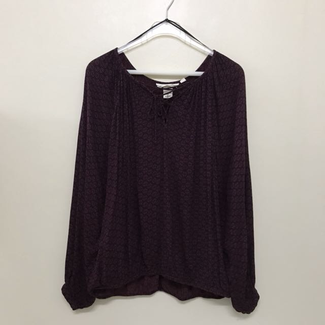 H&M L.O.G.G. Loose Fit Criss Cross Knot Detail Top