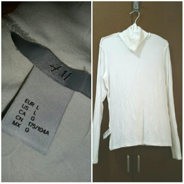 H&M White Turtleneck Shirt