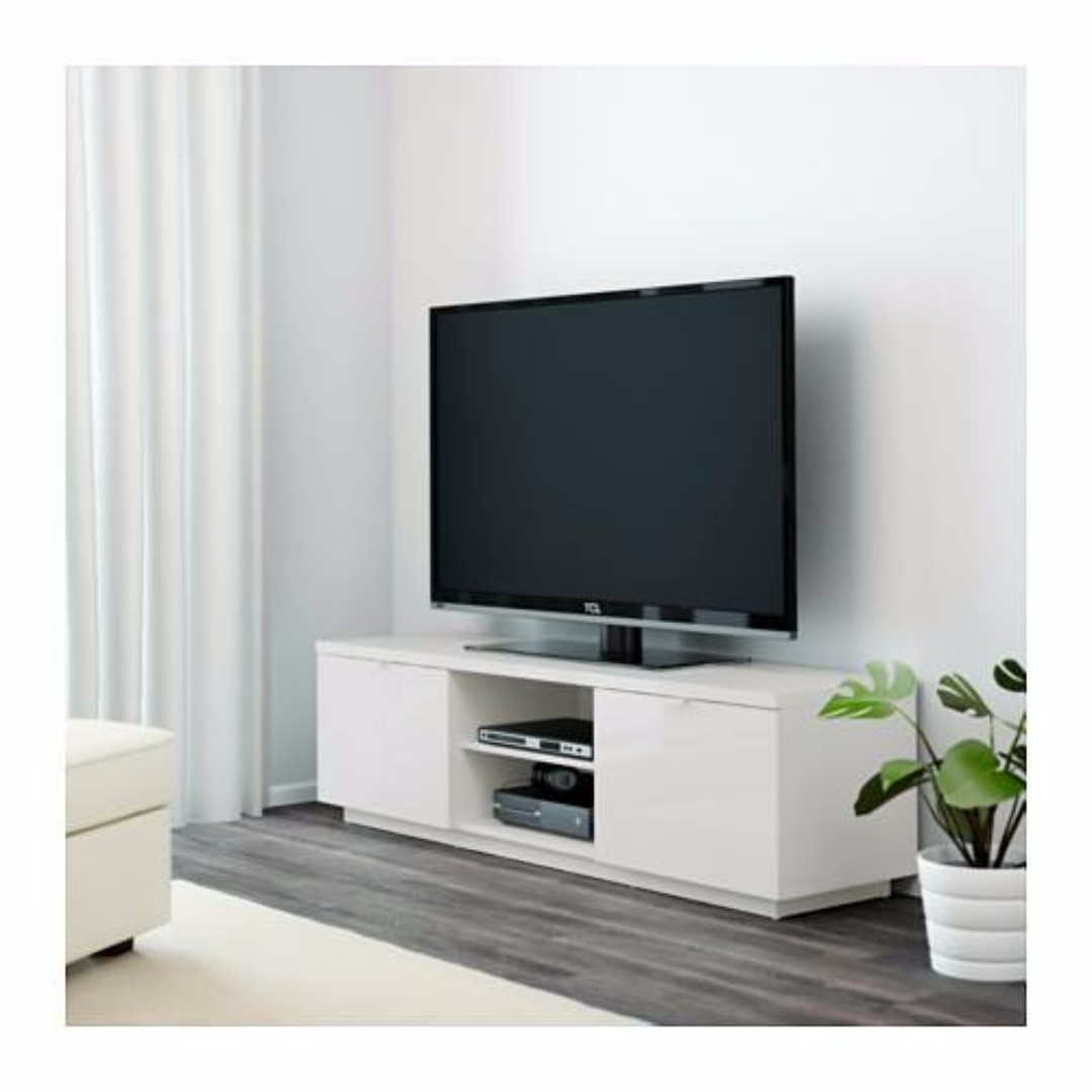 Ikea Byas Tv Bench Rak Tv Tv Cabinet Kabinet Tv Tv Table  # Meuble Tele Au Mur Ikea