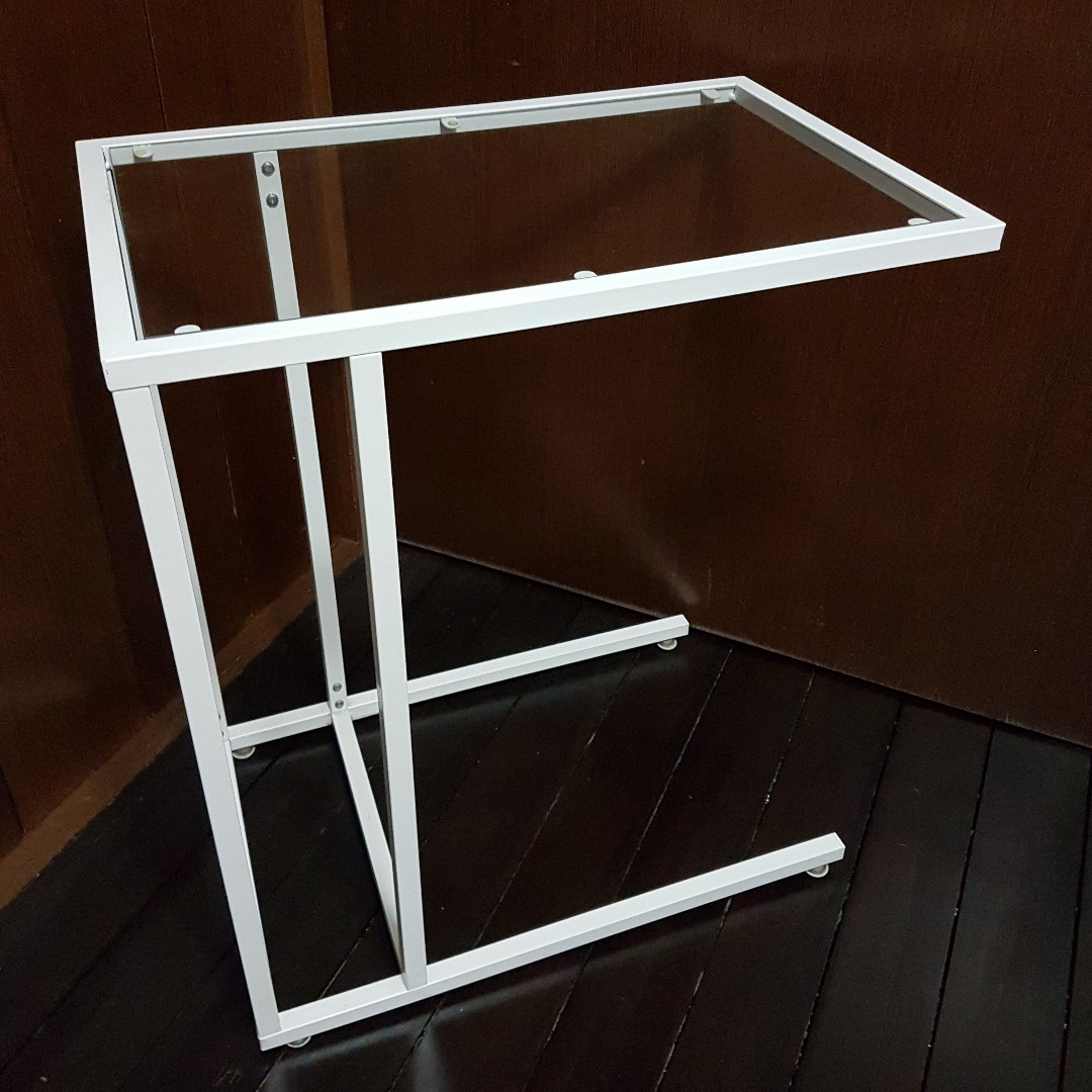 Ikea Vittsjo Laptop Stand White Glass Home Furniture Furniture  # Meuble Ikea Vittsjo