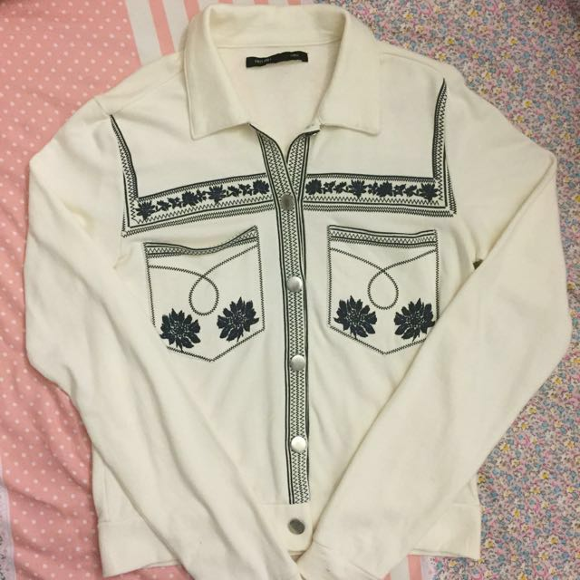 Jacket with buttons || First and I