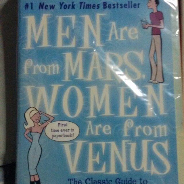 a review of john grays book men are from mars women are from venus Men are from mars, women are from venus research papers look at a book that can be viewed as a guide for helping with communicaton skills in relationships.