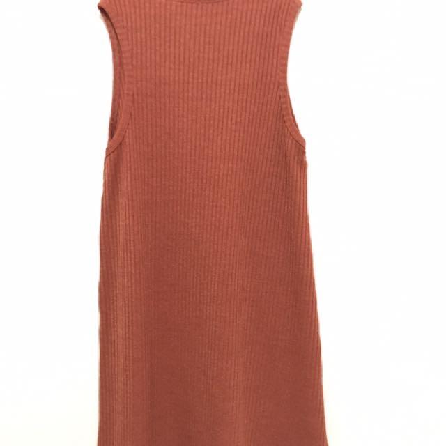 Knitted Orange Mini Dress