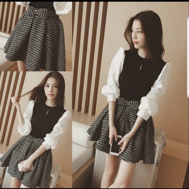 22f1bbe323f Korean 2 piece top and skirt