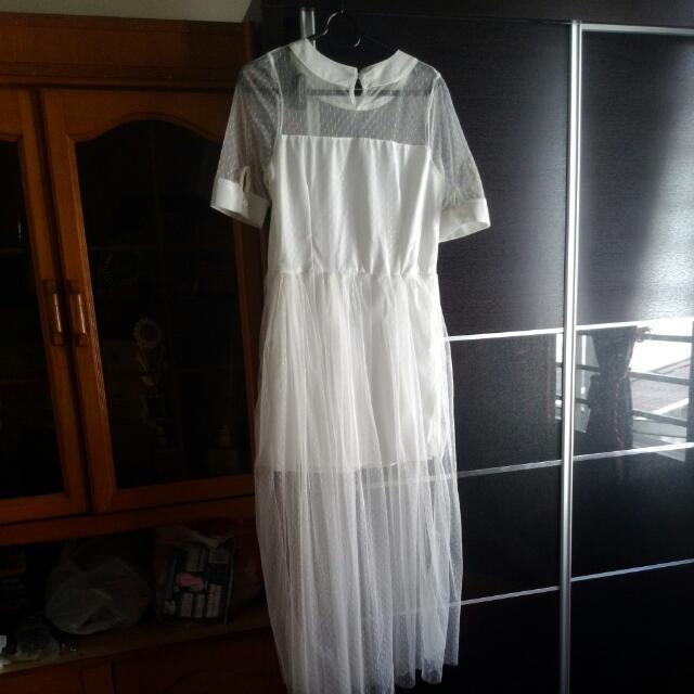 Korean Mesh Dress