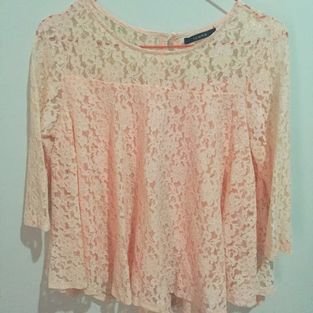 Lace Peachy Blouse by Icons