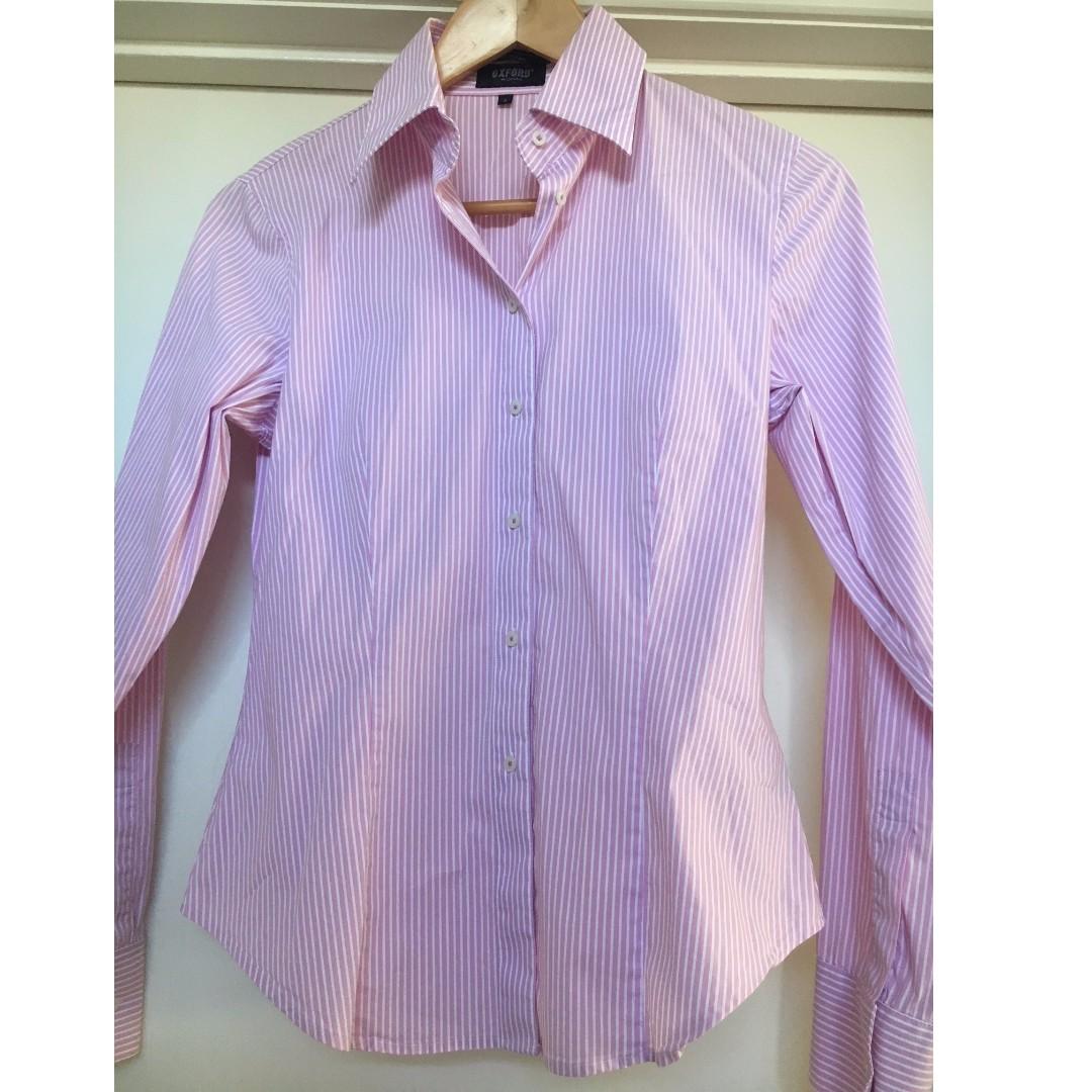 Ladies Oxford Long Sleeve Shirt Size 8