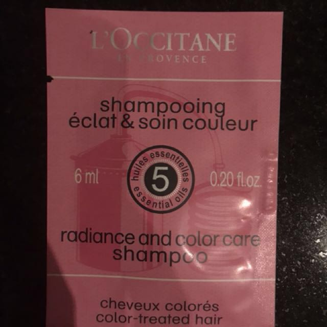 Loccitane radicance & colour care shampoo