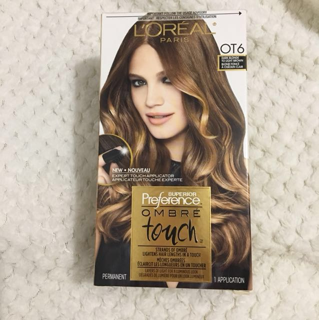 L'Oreal Superior Preference Ombré Touch Box Hair Dye(OT6 Dark Blonde to Light Brown Hair)