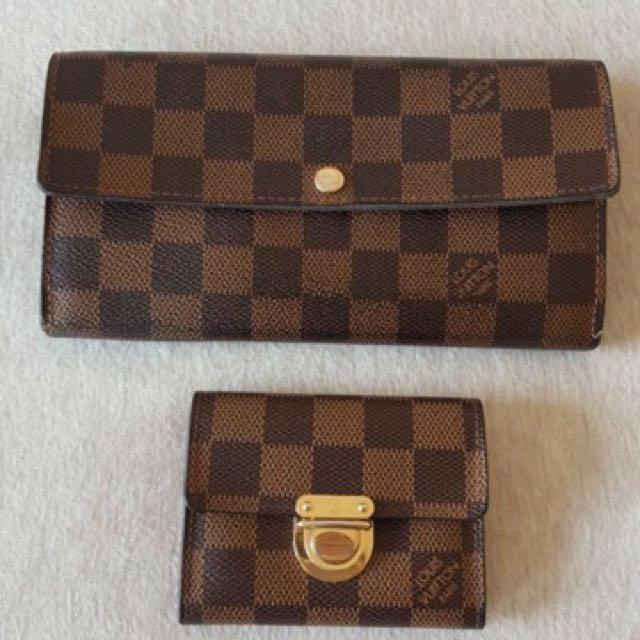 LV棋盤格發財包、零錢包