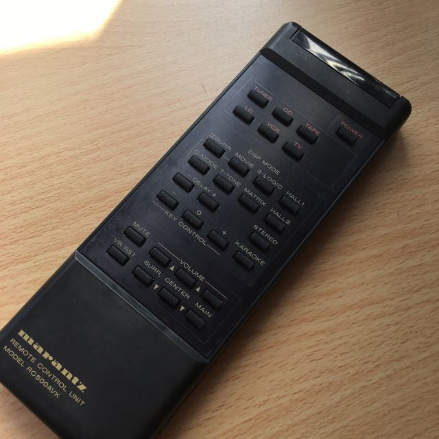 Marantz remote control, Electronics, Audio on Carousell