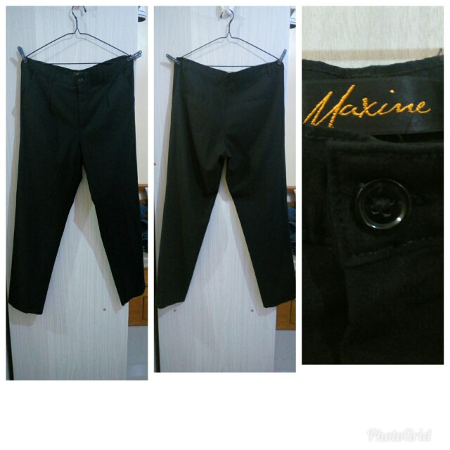 Maxine Plus Size Black Pants