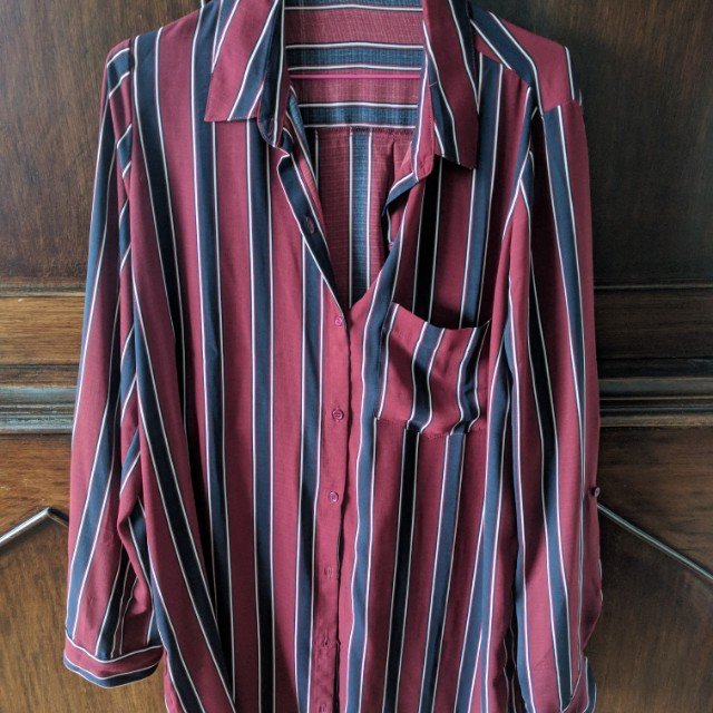 Mendocino Striped Shirt Dress.